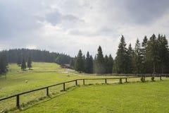 Chalet in den Bergen Stockfoto