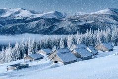Chalet in den Bergen Karpaten, Ukraine, Europa stockbilder