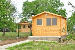 Chalet di legno delle cabine Immagini Stock Libere da Diritti