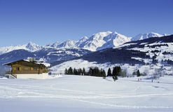 Chalet di Mont Blanc Fotografia Stock