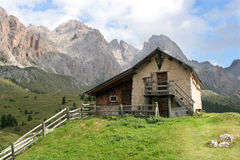 Chalet in dolomite Royalty Free Stock Images