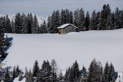 Chalet in Dolomiti royalty-vrije stock foto