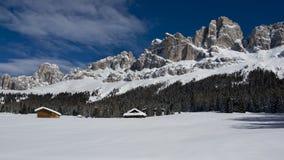 Chalet in Dolomiti royalty-vrije stock fotografie