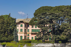 Chalet Dozzio en Cernobbio, Italia Imágenes de archivo libres de regalías