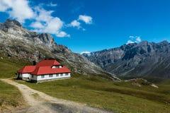 Chalet Echt in het Nationale Park van Picos DA Europa stock foto's