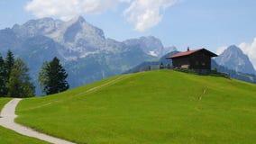 Chalet en montagnes de l'Allemagne Photo libre de droits