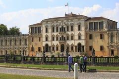 Chalet fabuloso Contarini en el sul Brenta de Piazzola en Italia Imagen de archivo libre de regalías