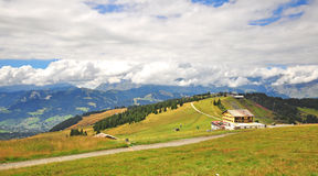 Chalet in french Alps Stock Photography