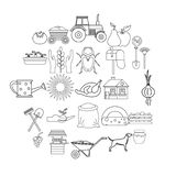 Chalet icons set, outline style. Chalet icons set. Outline set of 25 chalet vector icons for web isolated on white background vector illustration