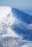 Chalet in inverno Immagine Stock Libera da Diritti