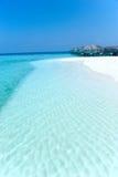 Chalet maldivo del agua - casas de planta baja Fotografía de archivo libre de regalías