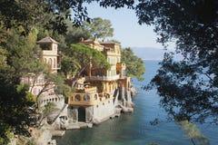 Chalet maravilloso cerca de Portofino Italia Foto de archivo libre de regalías