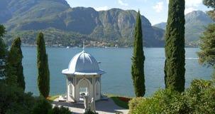 Chalet Melzi de Como del lago almacen de video
