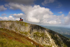 Chalet on Mountain Ridge, Giant Mountains Royalty Free Stock Images