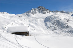 Chalet of mountain in winter Stock Photo