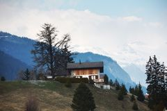 Chalet in mountains Royalty Free Stock Photography