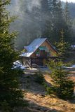Chalet In The Mountains stock image