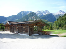 Chalet and Mountains Royalty Free Stock Image