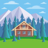 Chalet in the mountains Royalty Free Stock Photo
