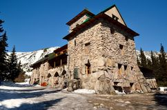 Chalet in mountains. One of the most popular mountain hostel in Polish Tatras stock photos