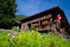 Chalet in Murren Royalty Free Stock Photo