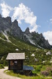 Chalet near refuge Royalty Free Stock Photo