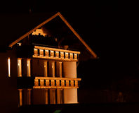 Chalet at night Royalty Free Stock Image