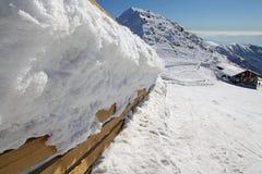 Chalet op heuvel Chopok - Lage Tatras, Slowakije royalty-vrije stock afbeeldingen