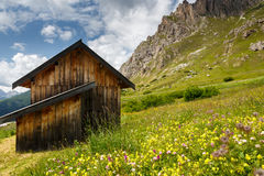 Chalet in Passo Pordoi, Dolomites, Italy Stock Photography