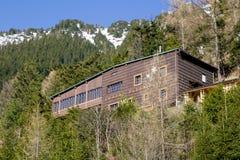 Chalet Plesnivec in het Hoge Nationale park van Tatras, Slowakije royalty-vrije stock foto's