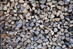 Chalet proche en bois moissonné, Canada Photographie stock libre de droits