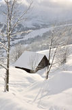 Chalet in the snow Royalty Free Stock Photo