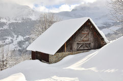 Chalet in the snow Royalty Free Stock Image