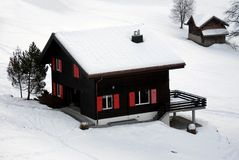 Chalet in the Snow Royalty Free Stock Photography