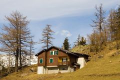 Chalet suisse 3 Image libre de droits