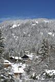 Chalet suisse en hiver photo libre de droits