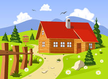 Chalet in Summer Royalty Free Stock Photography