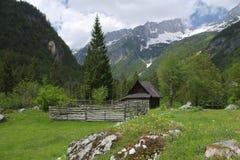 Chalet sur Julian Alps, Slovénie Image libre de droits