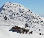 Chalet sur la colline Chopok - bas Tatras, Slovaquie Photographie stock libre de droits
