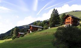 Chalet svizzeri Immagine Stock