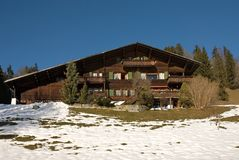 Chalet svizzero fotografie stock