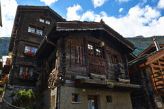 Chalet In Switzerland Royalty Free Stock Photography