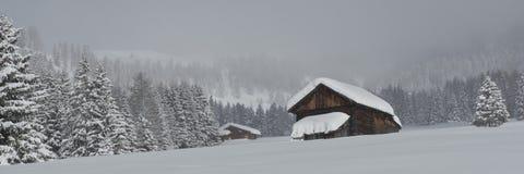 Chalet in Val di Fassa stock foto's