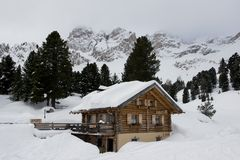 Chalet in Val di Fassa Stock Photos