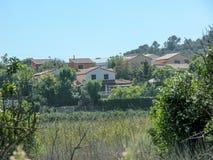 Chalet van de siërra DE Camp del Turia stock afbeelding