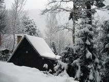 Chalet in winter Royalty Free Stock Photography