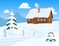 Chalet in Winter Royalty Free Stock Photo