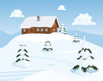 Chalet in Winter Stock Photos