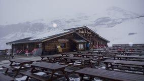 chaleten skidar Royaltyfri Fotografi
