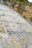 Chalets con los pisos de mosaico y decoratio clásico Imagen de archivo libre de regalías